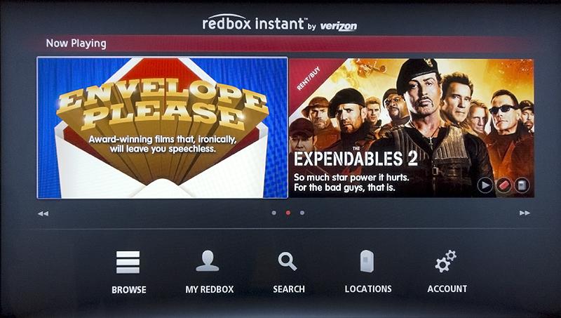Screenshot: Redbox Instant