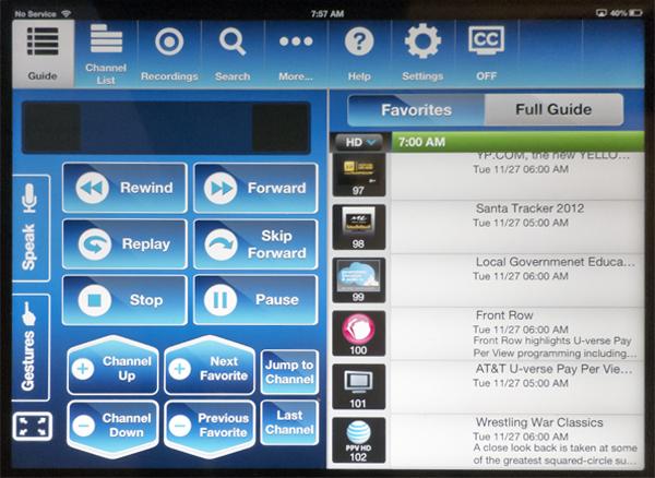 AT&T U-verse Easy Remote app