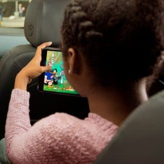 ATT and GM, 5G - Kid on Device in Car