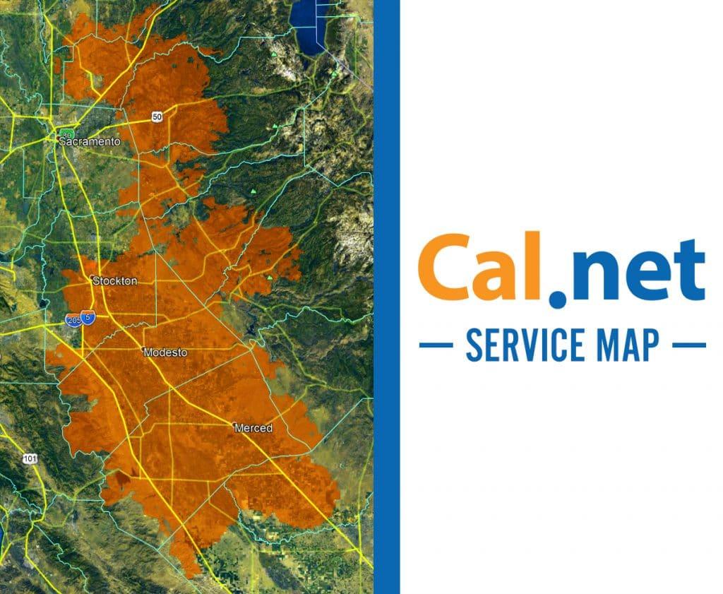 cal.net service area map winters