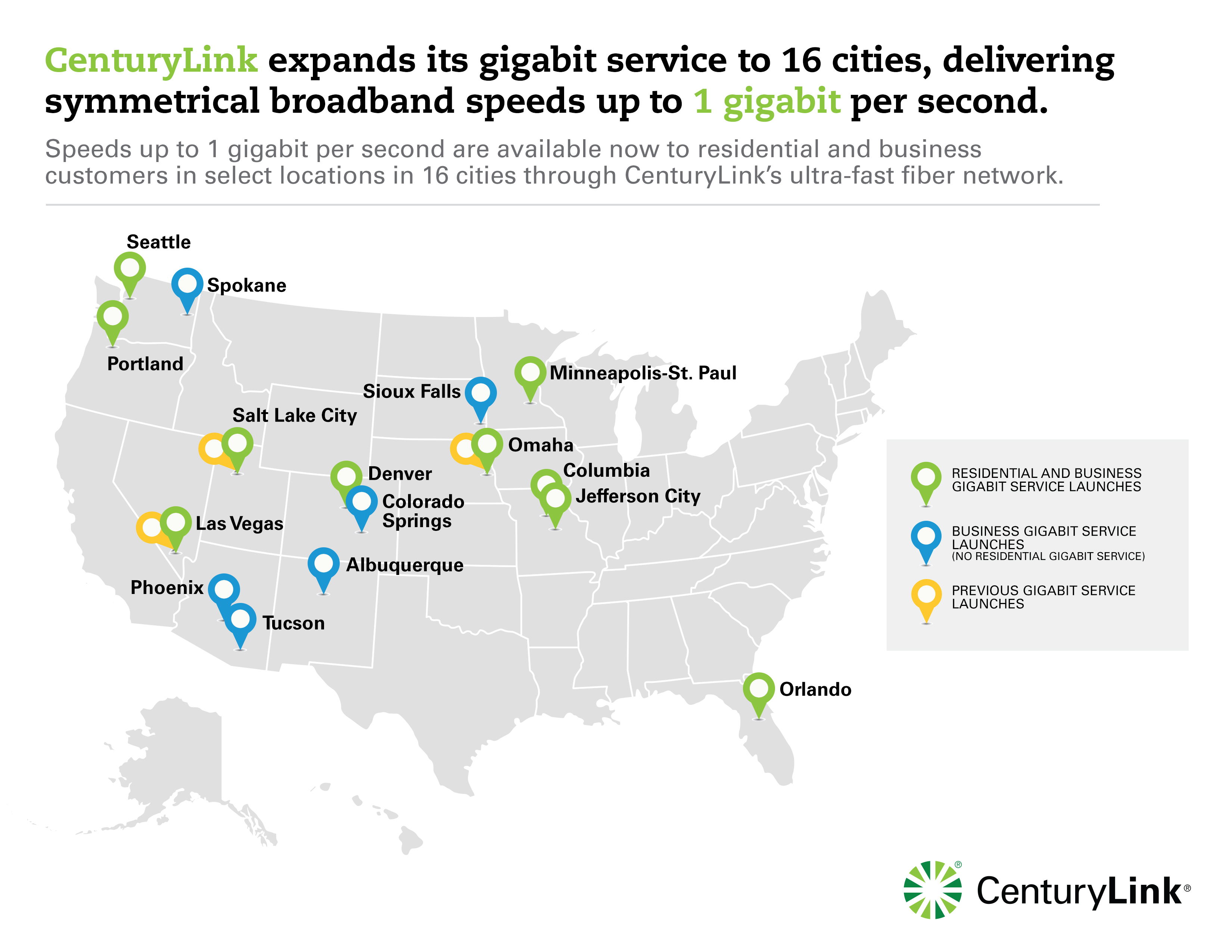 centurylink gigabit multi-city stealth launch - telecompetitor