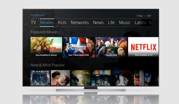 Comcast X1 Netflix Integration (Source: Netflix)