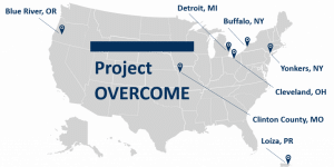 Project OVERCOME Communities Map