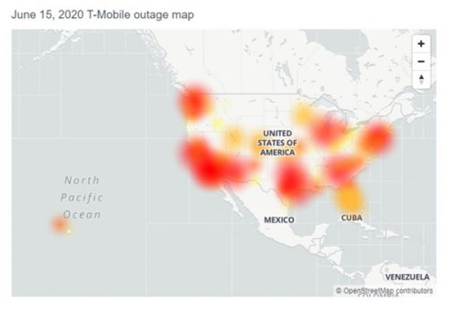 T-mobile network outage map