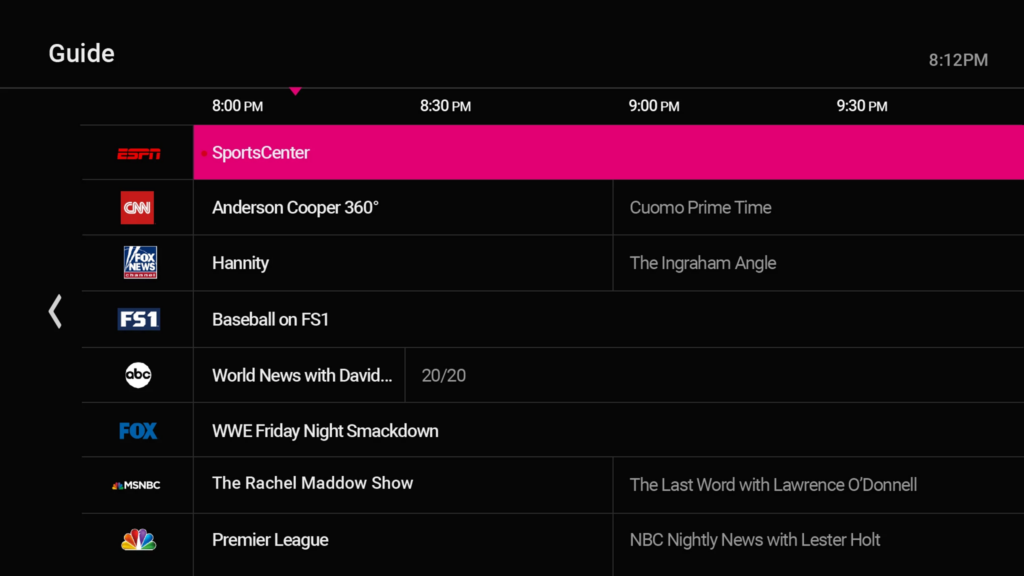 t-mobile streaming tv user guide