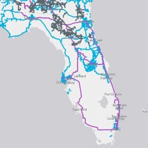 Uniti Dark Fiber Map in Florida
