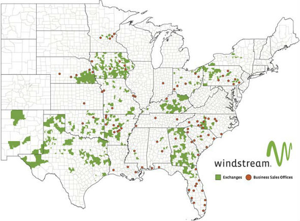 windstream network map