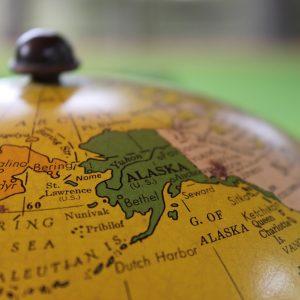 alaska on a map
