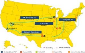 ANZ Communications Network Map