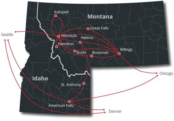Blackfoot Network Map