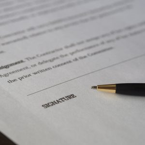 business deal paperwork