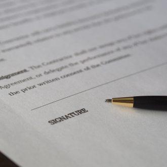 business deal paperwork