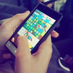 Candy crush on phone