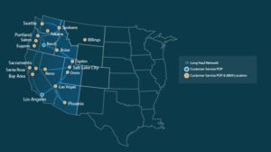Electric Lightwave network map