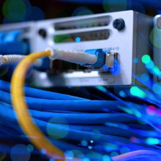 fiber optics rack