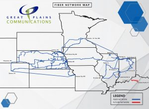 great plains communications network map