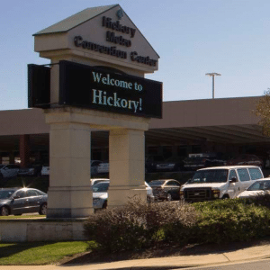 hickory north carolina sign