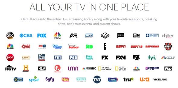 Hulu vMVPD channel line up