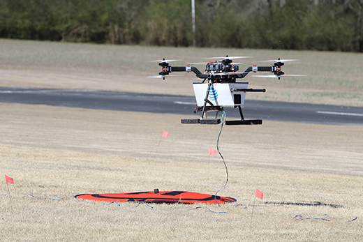 AT&T Drone Comes in for a Landing (Source: AT&T)