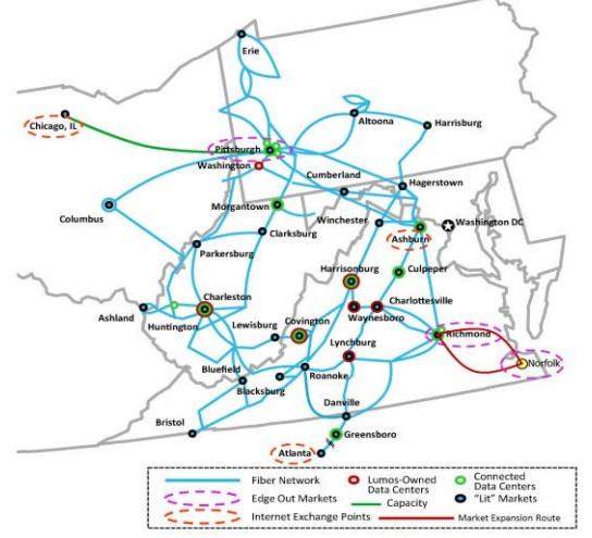 Lumos Fiber Network Map (Source: Lumos website)