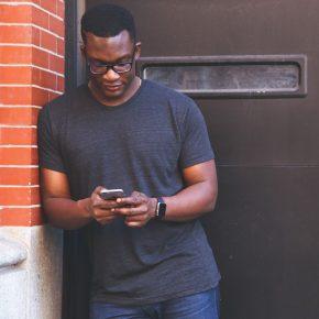 man on mobile