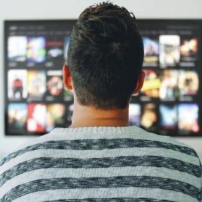 man watching TV (1)