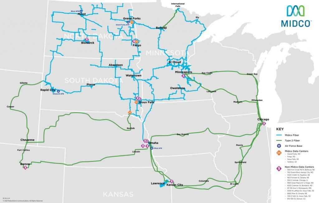 midco network map