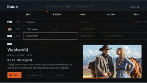 MobiTV Interface (Source: MobiTV)