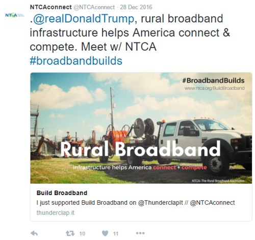 NTCA #broadbandbuilds Tweet