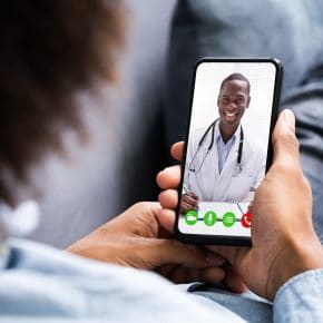 Video Conferencing With Doctor. Online Telemedicine