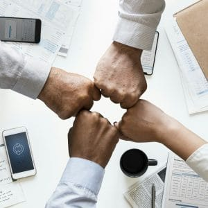 partnership fist bump