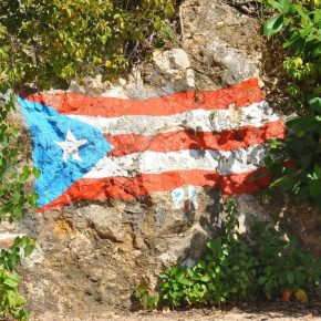 puerto rico painted flag