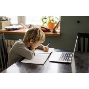 student at home image