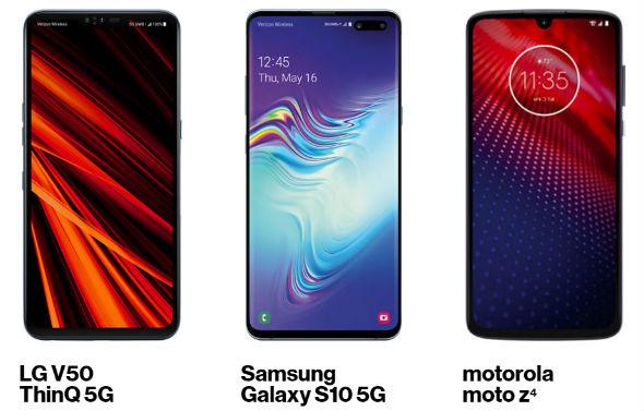 verizon 5g smartphones