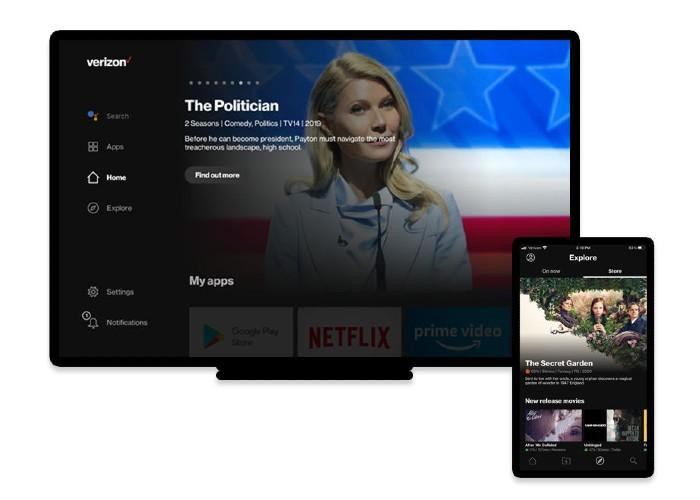 verizon streaming TV UI