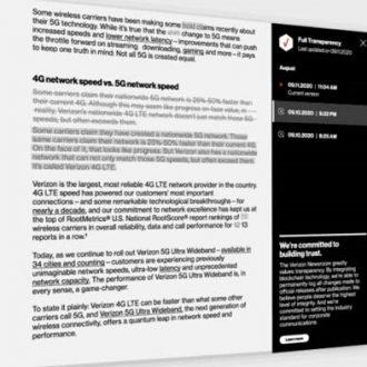 verizon full tranparency document
