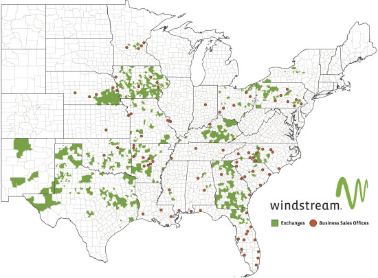 Windstream Residential Network Map
