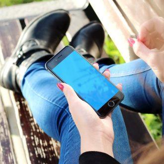 woman on mobile rural 5G awareness