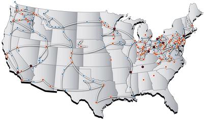 Zayo Network Map